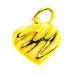 จี้ ทองคำแท้ รูปหัวใจตัดลาย น้ำหนักทอง 1 กรัม