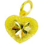 จี้ ทองคำแท้ รูปหัวใจตัดลาย น้ำหนักทอง 1/2 สลึง