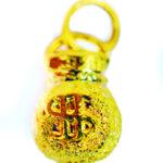จี้ ทองคำแท้ รูปถุงเงินถุงทอง ตัดลาย หนัก 1/2 สลึง