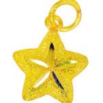 จี้ ทองคำแท้ รูปดาว 1 ตัว ตัดลาย หนัก 1 สลึง