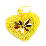 จี้ ทองคำแท้ รูปหัวใจ ตัดลาย น้ำหนักทอง 1 สลึง